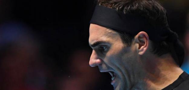 El grito de rabia de Roger Federer. Fuente: Getty
