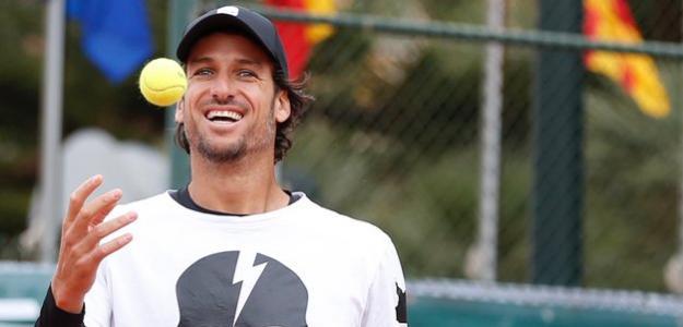 Feliciano López, una sonrisa permanente. Fuente: Seniors Cup