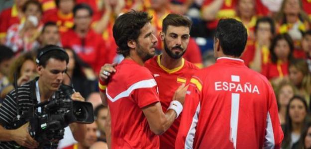 El equipo español, eliminado en la Copa Davis. Fuente: Wilson