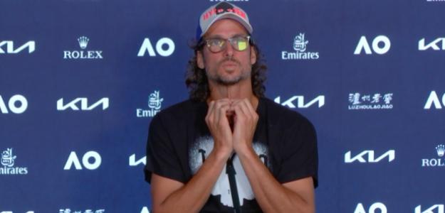 Feliciano López en sala de prensa. Fuente: AO