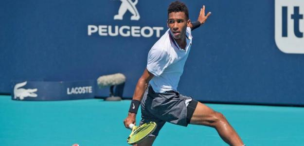 Félix Auger-Aliassime en Miami Open 2019. Foto: zimbio