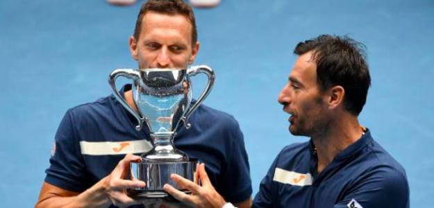 Filip Polasek e Ivan Dodig, campeones del Open de Australia 2021. Fuente: Getty