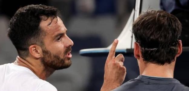 Acalorada la discusión tras el partido entre Fognini y Caruso. Fuente: Getty
