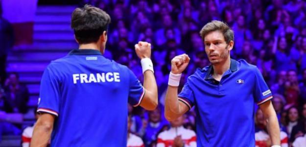 Mahut y Herbert logran el primer punto para Francia. Fuente: Getty