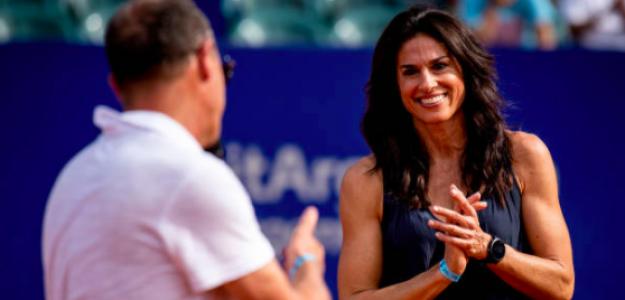 Gabriela Sabatini en el último torneo de Buenos Aires. Fuente: Getty