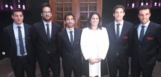 Cena de gala con el equipo español al completo