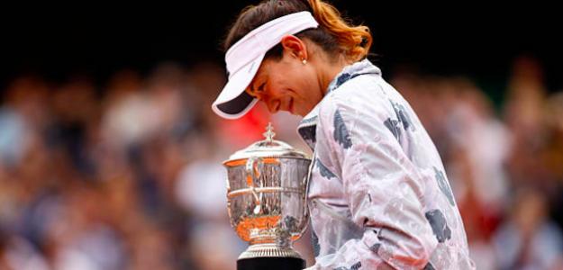 Garbiñe Muguruza, campeona en Roland Garros. Fuente: Getty
