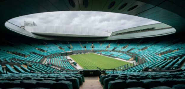 La Pista Central de Wimbledon, vacía. Fuente: Getty