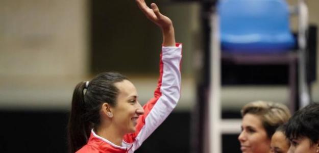 Georgina García debutó con victoria en Japón. Fuente: FedCup
