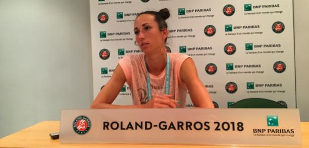 Georgina García en rueda de prensa en Roland Garros. Fuente: Fernando Murciego