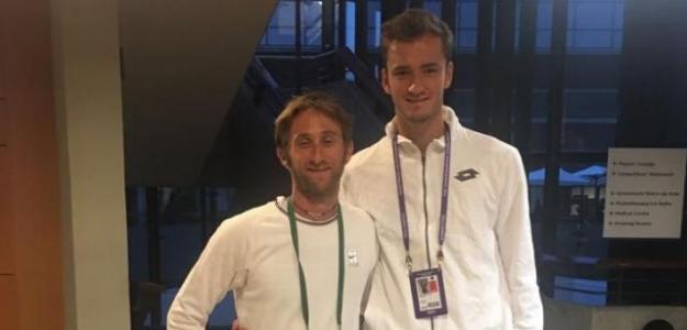 Gilles Cervara y Daniil Medveded en Wimbledon. Foto: Gilles Cervara