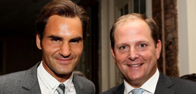 Roger Federer. Tony Godsick