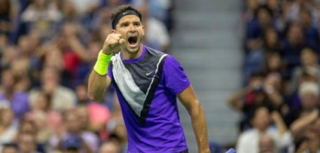 Dimitrov superó a Federer y dio la sorpresa del US Open. Foto: Getty