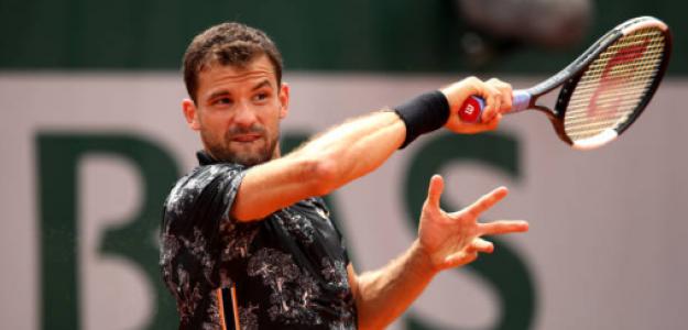 Grigor Dimitrov en Roland Garros 2019. Foto: zimbio
