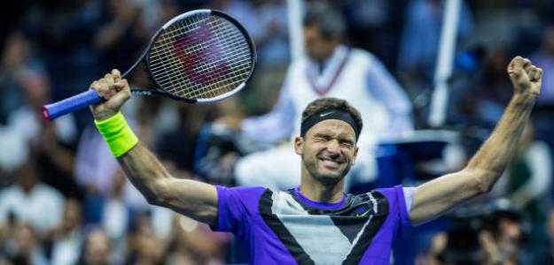 Grigor Dimitrov gana a Roger Federer en US Open 2019. Foto: gettyimages