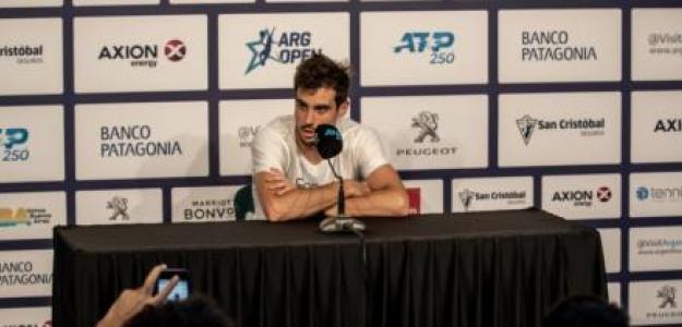 Pella habló sobre la velocidad de las canchas. Foto: Argentina Open