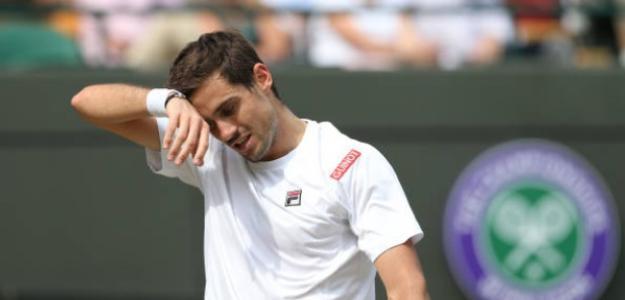 Guido Pella cuajó un más que sorprendente Wimbledon llegando a cuartos de final. Foto: Getty