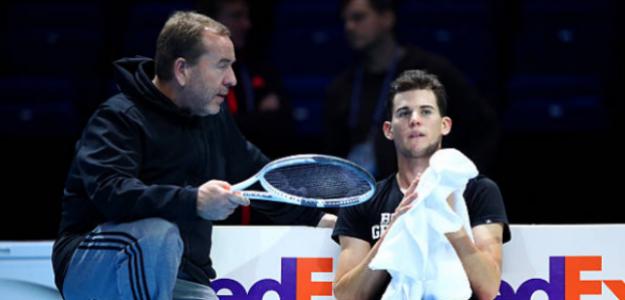Gunter Bresnik y Dominic Thiem en Nitto ATP Finals. Foto: zimbio