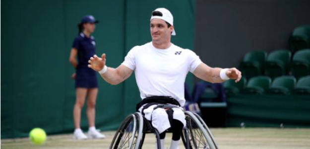 Gustavo Fernández tras coronarse en Wimbledon 2019. Fuente: Getty