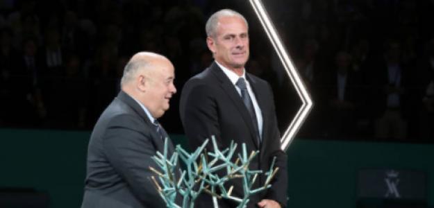 Bernard Giudicelli, presidente de la FFT, y Guy Forget, director de Roland Garros. Fuente: Getty