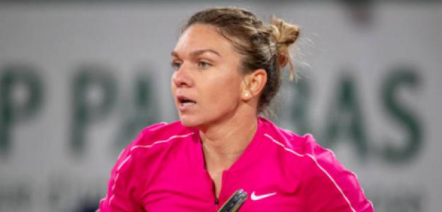 Simona Halep durante el partido de hoy. Fuente: Getty