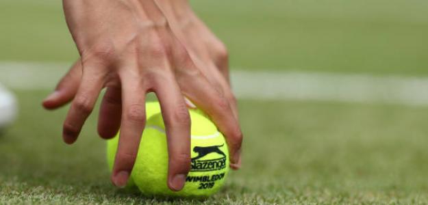 La hierba, las pelotas de Wimbledon y su velocidad. Foto: Getty