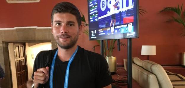 Daniel Vallverdú, entrenador de Grigor Dimitrov. Fuente: Fernando Murciego
