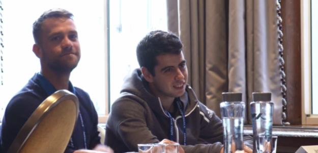Ricardo Ojeda y Jaume Munar en la ATP University. Fuente: ATP
