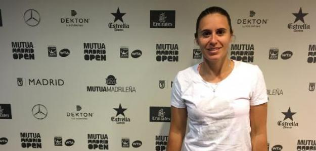 Anabel Medina en el Mutua Madrid Open. Foto: Fernando Murciego