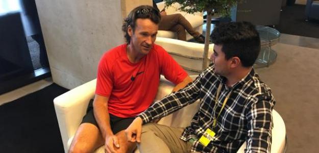 Carlos Moyá durante la entrevista con Fernando Murciego. Foto: Punto de Break