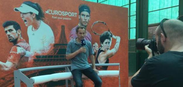 Jordi Arrese durante la presentación de Roland Garros. Foto: Fernando Murciego