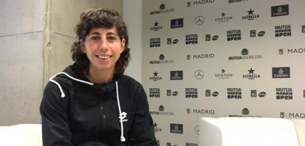 Carla Suárez durante la entrevista con Punto de Break. Fuente: Fernando Murciego