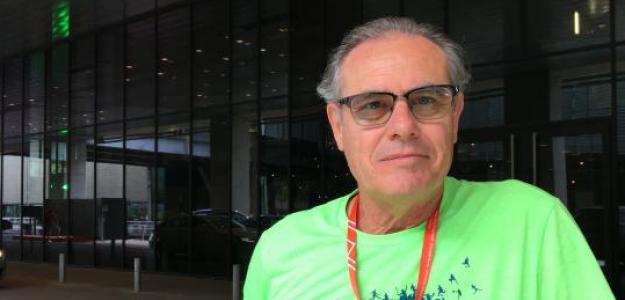 José Perlas durante la entrevista con Fernando Murciego.