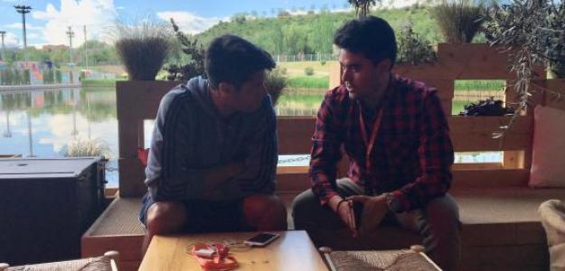Guillermo Alcaide y Fernando Murciego durante la entrevista.