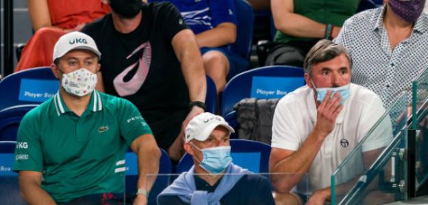Goran Ivanisevic en el banquillo de Djokovic. Fuente: Getty