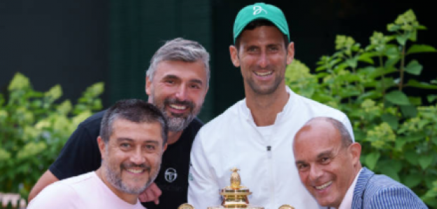 Ivanisevic, junto a Djokovic. Fuente: Getty