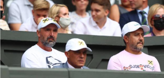 Ivanisevic, en el banquillo de Novak Djokovic. Fuente: Getty