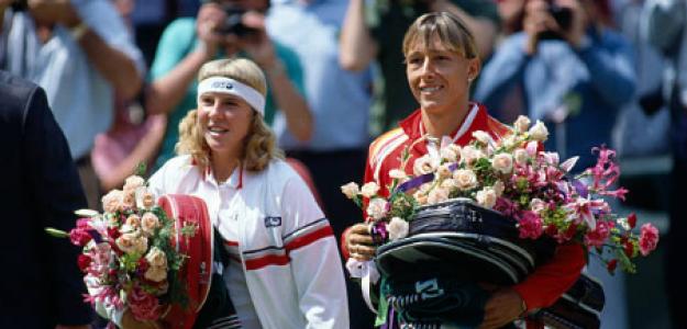 Andrea Jaeger, junto a Martina Navratilova tras la final de Wimbledon 1983. Fuente: Getty