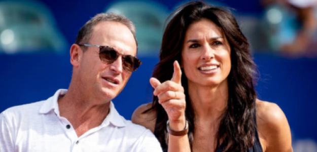Martín Jaite, junto a Gabriela Sabatini en el último Argentina Open. Fuente: Getty