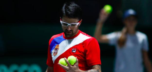 Janko Tipsarevic en su último torneo. Fuente: Getty