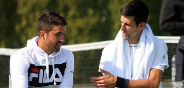 Janko Tipsarevic y Novak Djokovic. Foto: Getty
