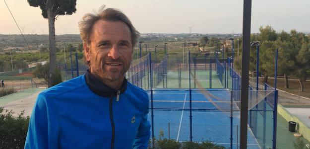 Javier Piles en el Club de Tenis Penyes Males. Fuente: Fernando Murciego