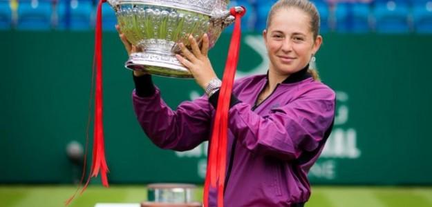 Jelena Ostapenko celebra su victoria. Foto: Getty