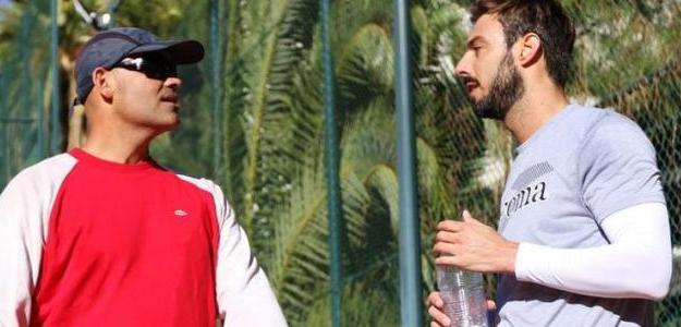 Joan Balcells junto a Marcel Granollers. Foto: Barcelona Open Banc Sabadell