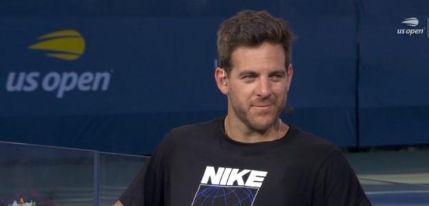 Delpo brindó una entrevista a ESPN en medio del US Open. Foto: @whitelinefervor