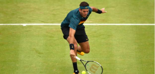 Juan Martín Del Potro en ATP 500 Queen´s 2019. Foto: gettyimages
