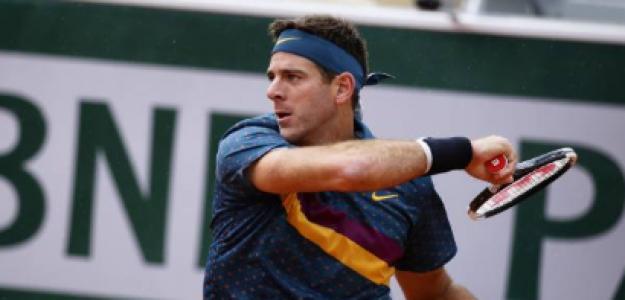 Juan Martín Del Potro en Roland Garros 2019 ante Nicolas Jarry. Foto: gettyimages