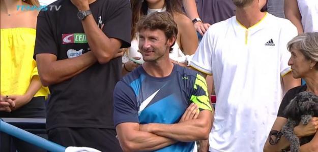 Ferrero durante la entreg de premios en Washington. Foto: TennisTV