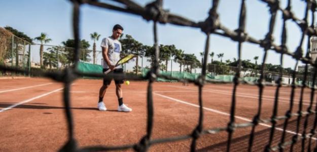 Karim Hossam, en su carrera como tenista. Foto: Getty