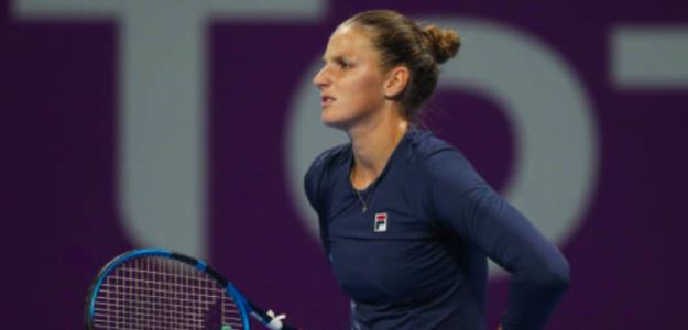 Karolina Pliskova no encuentra el rumbo. Fuente: Getty